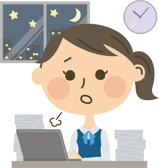 Overtime work female employee