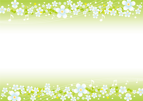 Spring flowers and note background