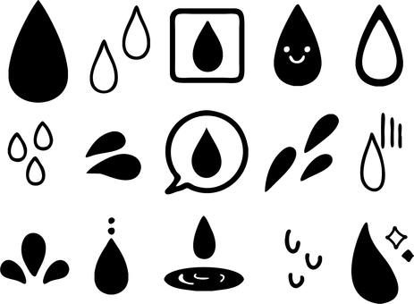 Assorted various sweat and water silhouettes