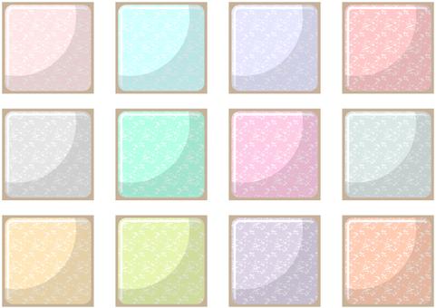 12 colorful pastel tiles