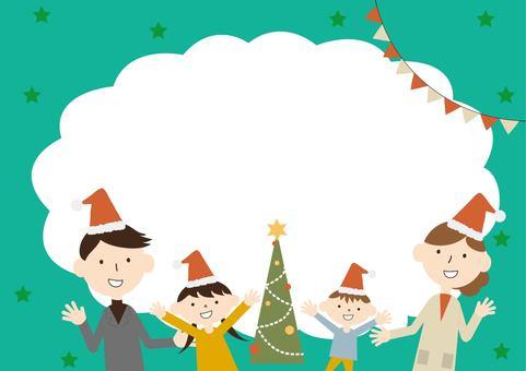 特寫家庭聖誕節框架