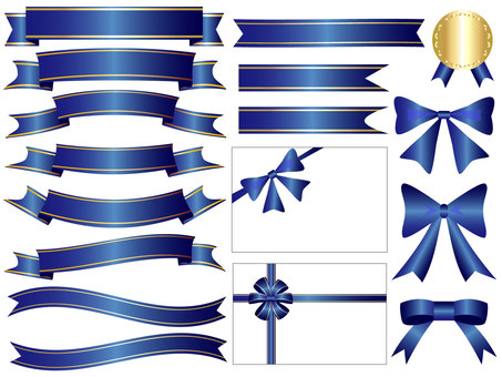Ribbon's icon set blue