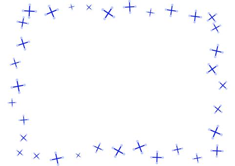 Simple snow crystal card 2