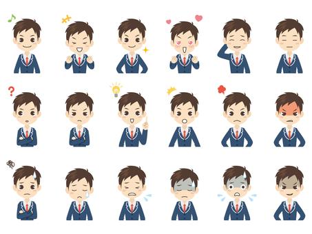 B223_高校生男子表情セット