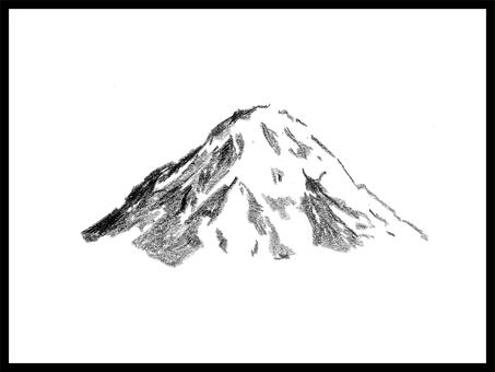 山の手書きイラスト