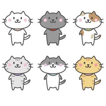 Cute cat set