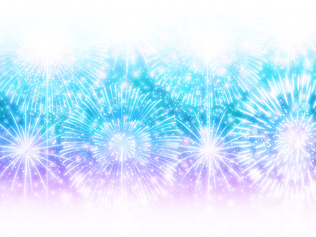 Multiple Fireworks for Summer Background / Wallpaper Frame 2