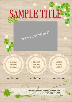 Shop flyer background