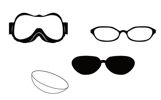4 종류의 안경