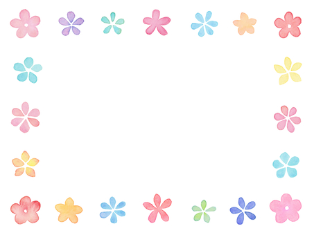 Watercolors Flower frame C1