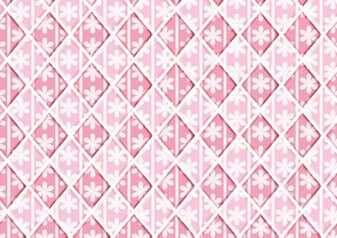 Flower tile (pink)