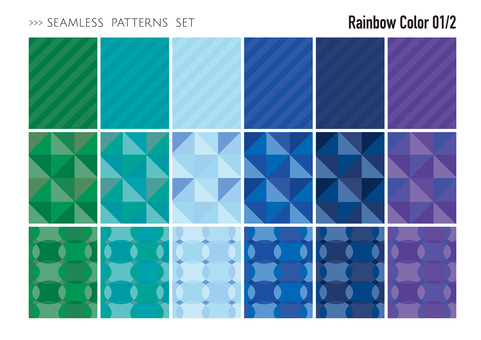 Seamless pattern set / cold color 01