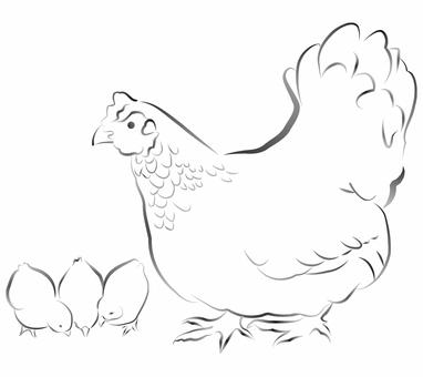 雞(水墨風格)03