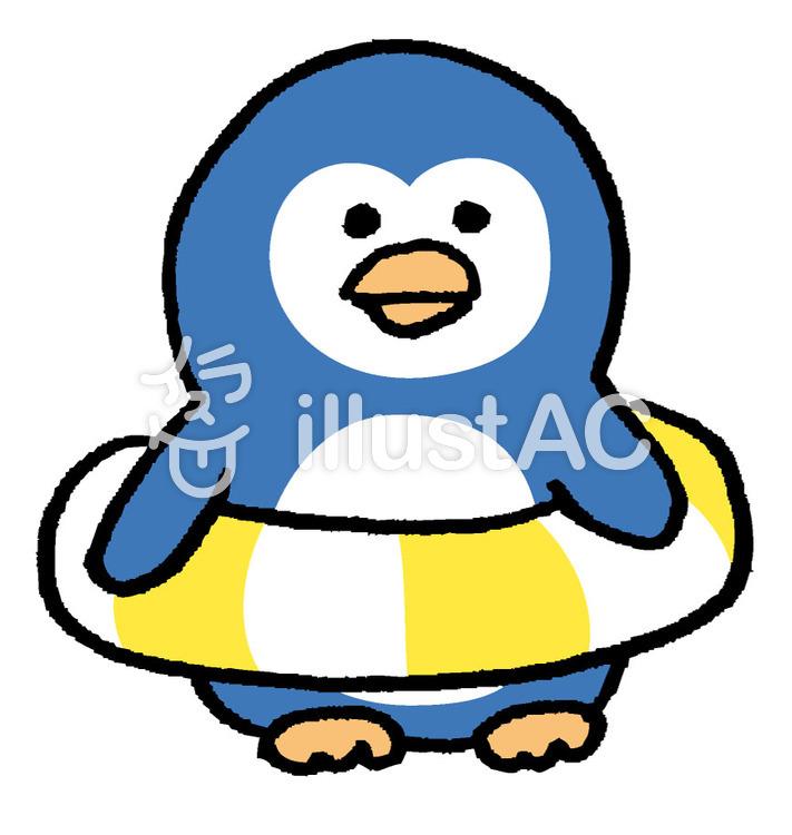 ペンギン 浮き輪イラスト No 467864無料イラストならイラストac