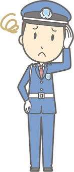 Security guard - troubled - whole body