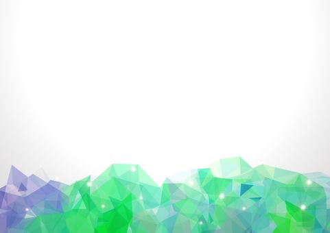 Polygon banner - green