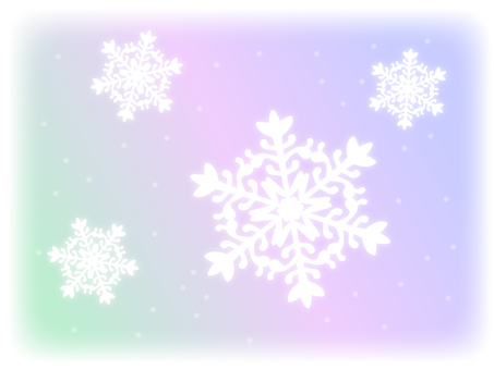 Light gradation and snowflakes