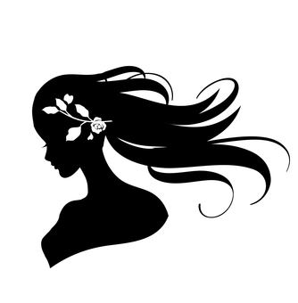 The goddess silhouette