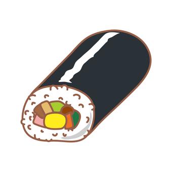 Uncooked sushi