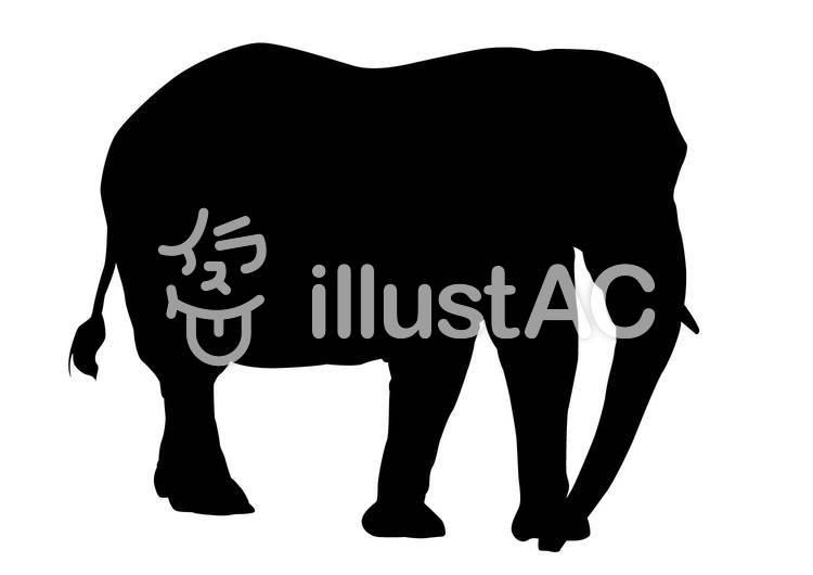 象・シルエットのイラスト