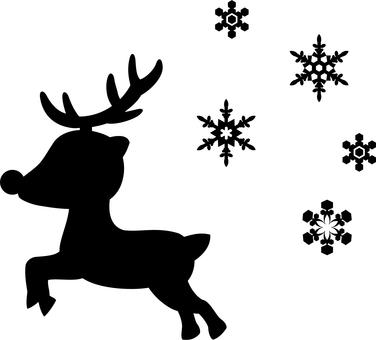 Run reindeer silhouette
