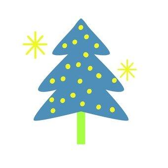 Scandinavian tree (blue, Christmas tree)