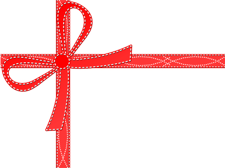 Simple gift ribbon red