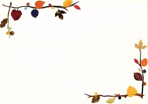 葉っぱと木の実の秋冬フレーム