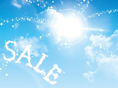 Blue sky sale material