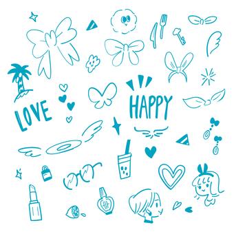 왠지 HAPPY (블루)