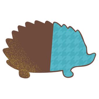 Hedgehog chocolate blue