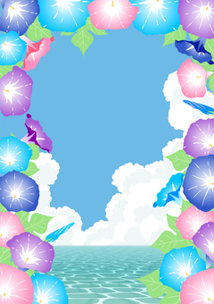 Sea and morning glory background