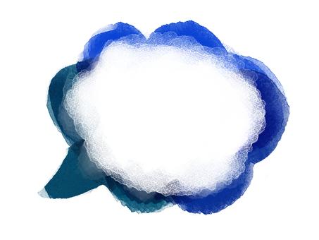 Watercolor speech bubble