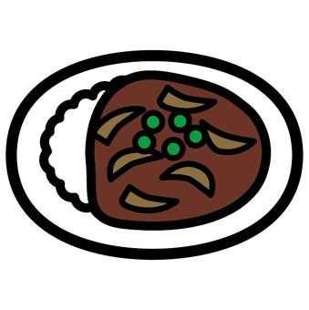 Hayashi rice Western food icon