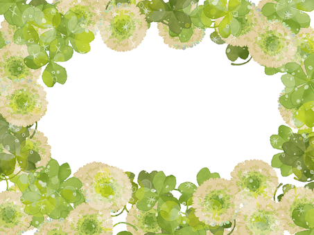 Hand-painted watercolor clover frame card