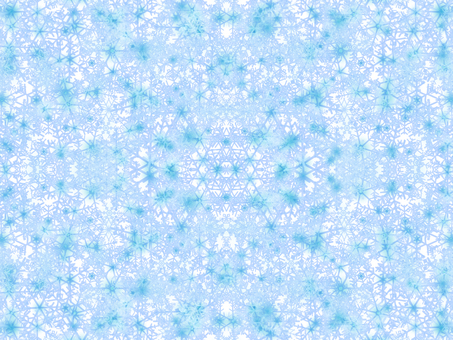 Snow crystal background material -1