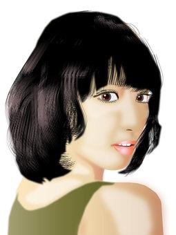 Black hair girl 02