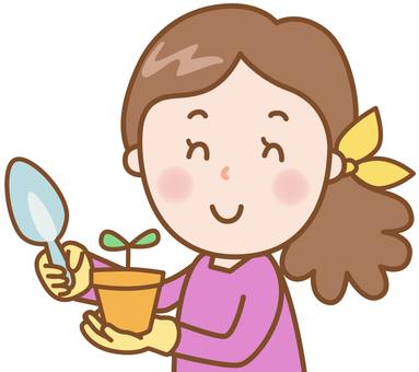 Woman: Gardening