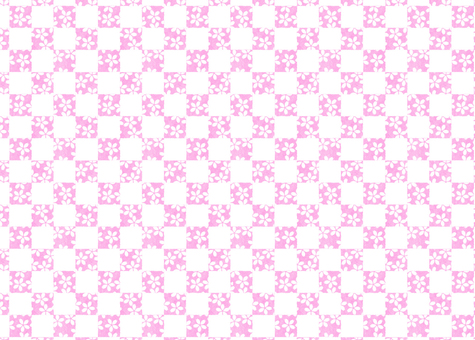 桜の格子柄パステル(ピンク)