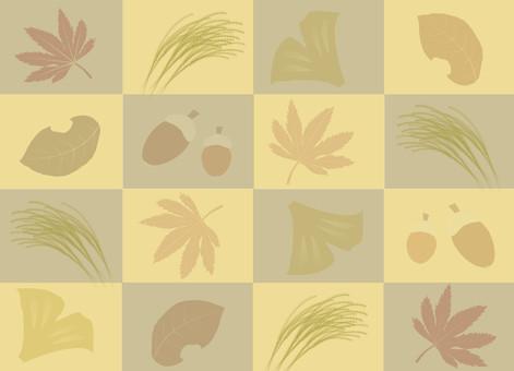 Autumn's frame lattice · autumn leaves and fruits