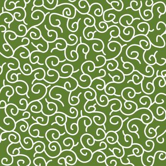 Arabesque pattern green medium