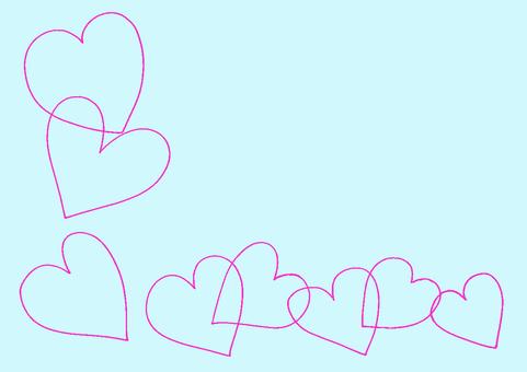 Heart 2 light blue