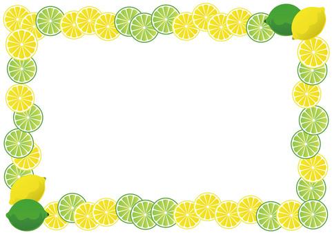 Lemon and lime frame