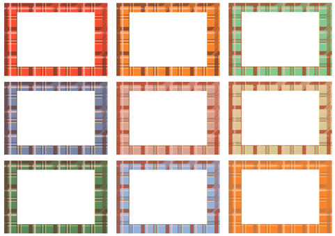 Frame of tartan check