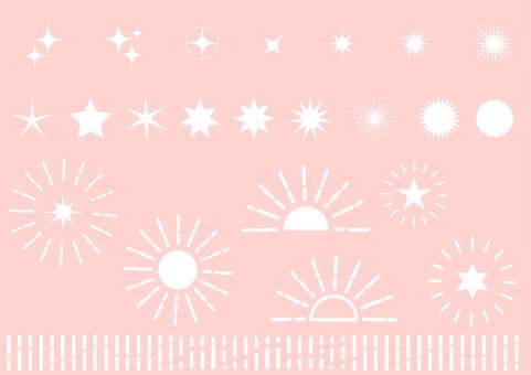 粉色的徑向閃光背景材料