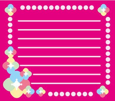 Flower and decorating stationery 1-3-1