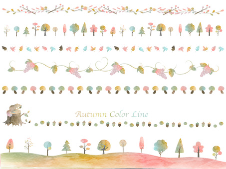 Fall color line set ver 01