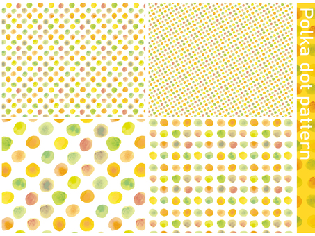 Background watercolor polka dot pattern seamless dots