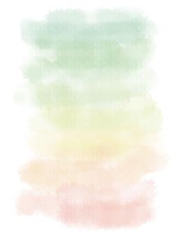 水彩漸變綠色
