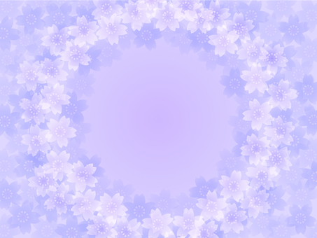 櫻花框架A(淡紫色)